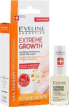 Parfumuri și produse cosmetice Întăritor pentru unghii - Eveline Cosmetics Nail Therapy Professional Protein Extreme Growth