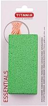 Parfumuri și produse cosmetice Piatră ponce pentru picioare, verde - Titania