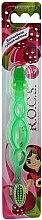 Parfumuri și produse cosmetice Periuță de dinți pentru copii, verde deschis - R.O.C.S. Kids