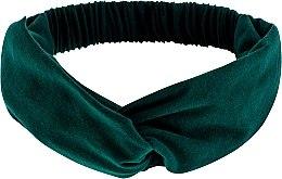 """Parfumuri și produse cosmetice Bentiță din tricotaj, verde smarald """"Knit Twist"""" - MakeUp Hair Accessories"""