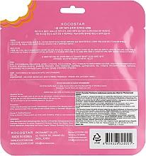 "Тонизирующая вафельная маска ""Клубничный фреш"" - Kocostar Strawberry Waffle Mask — фото N2"