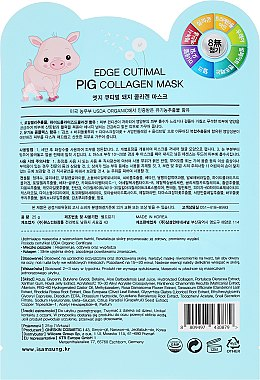 Mască de țesut pentru față - Belleza Castillo Edge Cutimal Pig Anti-Wrinkle Mask — Imagine N2