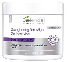 Parfumuri și produse cosmetice Masca-gel alginată pentru față - Bielenda Professional Program Face Strengthening Face Algae Gel Mask Violet