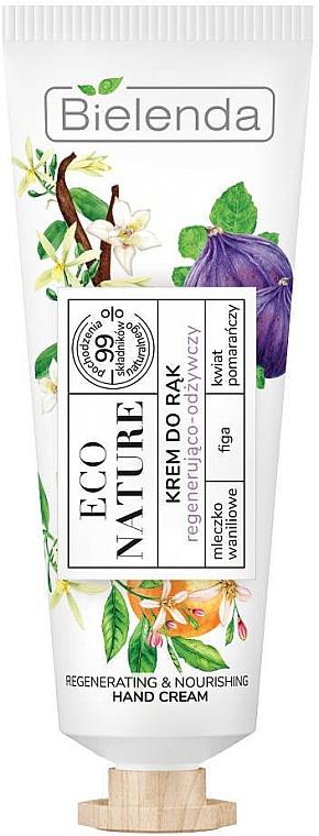 Cremă regenerantă de mâini - Bielenda Eco Nature Vanilla Milk, Figs & Orange Blossom Hand Cream
