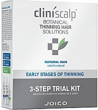 Parfumuri și produse cosmetice Set pentru îngrijirea părului natural - Joico Cliniscalp 3-step Trial Kit For Natural Hair Early Stages (shmp/100ml + cond/100ml + treat/50ml)