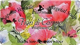 "Parfumuri și produse cosmetice Săpun natural ""Flori sălbatice"" - Florinda Sapone Vegetale Vegetal Soap Wild Flowers"