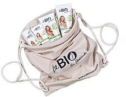 "Parfumuri și produse cosmetice Set ""Bambuc și Lemongrass"", eco rucsac - BeBio Bamboo And Lemongrass (sh/gel/200ml + b/lot/200ml + hand/cream/75ml + deo/50ml)"