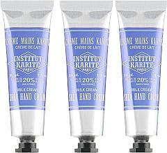 Parfumuri și produse cosmetice Set - Institut Karite Shea Hand Cream (h/cr/3x30ml)