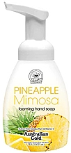 "Parfumuri și produse cosmetice Мыло-пенка для рук ""Ананас и мимоза"" - Australian Gold Foaming Hand Soap Pineapple Mimosa"