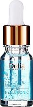 Parfumuri și produse cosmetice Ser intensiv cu acid hialuronic cu efect anti îmbătrânire pentru față și gât - Delia Face Care Hyaluronic Acid Face Neckline Intensive Serum