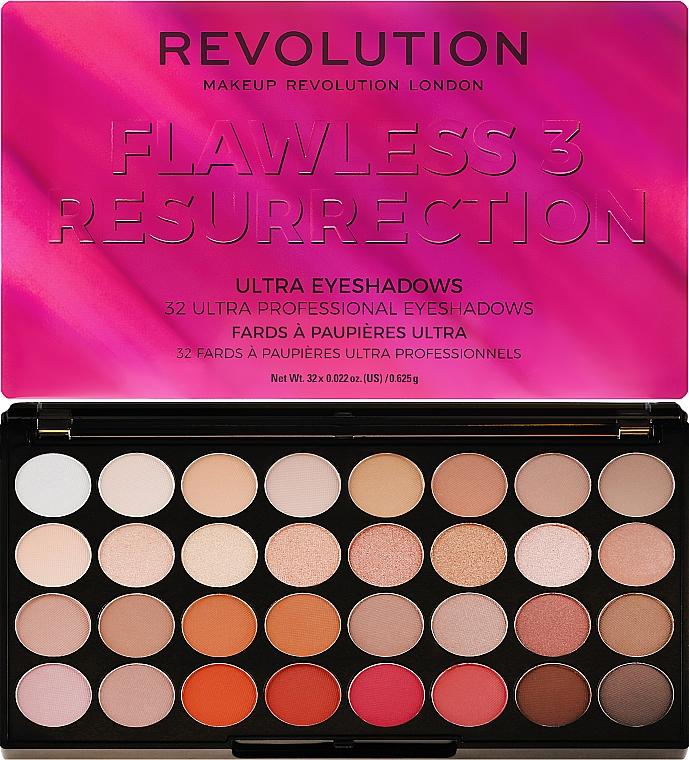 Paleta fard de ochi, 32 nuanțe - Makeup Revolution Ultra 32 Shade Palette Flawless 3 Resurrection