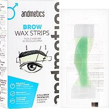 Parfumuri și produse cosmetice Set pentru corecția sprâncenelor - Andmetics Brow Wax Strips Men (strips/4x2pc + strips/4x2pc + wipes/4pc)