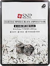 Parfumuri și produse cosmetice Mască de curățare cu extract de cărbune pentru față - SNP Charcoal Mineral Black Ampoule Mask