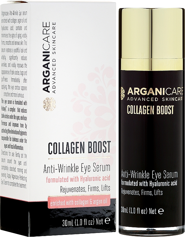 Ser antirid pentru zona ochilor - Arganicare Collagen Boost Anti Wrinkle Eye Serum