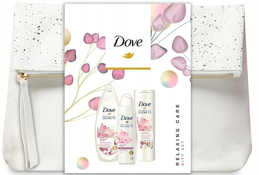 Set - Dove Glowing Ritual (sh/gel/250ml+b/lot/250ml+deo/spray/150ml+bag)