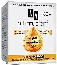 Parfumuri și produse cosmetice Cremă de noapte cu ulei de argan și maracuja - AA Oil Infusion Night Cream 30+