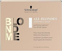 Parfumuri și produse cosmetice Concentrat de vitamina C pentru toate tipurile de păr - Schwarzkopf Professional Blondme All Blondes Vitamin C Shot