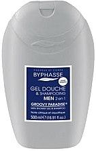 Parfumuri și produse cosmetice Gel-Șampon 2 în 1pentru bărbați - Byphasse Men Shower Gel-Shampoo 2in1 Groovy Paradise