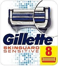 Parfumuri și produse cosmetice Casete de rezervă pentru aparat de ras, 8 bucăți - Gillette SkinGuard Sensitive