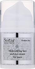 Parfumuri și produse cosmetice Cremă hidratantă pentru față și zona ochilor - Sostar Moisturizing Moisturizing Face & Eye Cream For Men