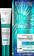 Parfumuri și produse cosmetice Cremă-Gel pentru zona ochilor - Eveline Cosmetics Hyaluron Clinic 30+/40+