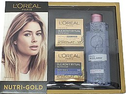 Parfumuri și produse cosmetice Set - L'Oreal Paris Nutri Gold (f/cr/50 ml + f/cr/50 ml + micellar/400 ml)