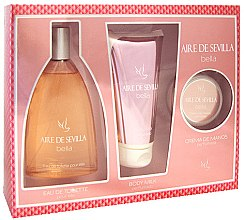 Parfumuri și produse cosmetice Instituto Español Aire de Sevilla Bella - Set (edt/150ml + b/milk/150ml + hand/cr/50ml)