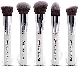 Parfumuri și produse cosmetice Set de pensule machiaj - Nanshy Face Brush Set White (Brush/5)