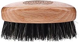 Parfumuri și produse cosmetice Perie din lemn, cu peri naturali, pentru barbă, deschisă la culoare - Ronney Professional Barber Small Brush