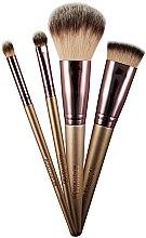 Parfumuri și produse cosmetice Set de pensule pentru machiaj, 4 buc. - MakeUp Revolution Champagne Brushes And Holder