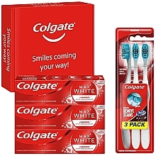 Parfumuri și produse cosmetice Set - Colgate Box Max White Luminous (toothpaste/3x75ml + toothbrush/3pc)