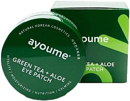 Parfumuri și produse cosmetice Patch-uri cu ceai verde și extract de aloe - Ayoume Green Tea + Aloe Eye Patch