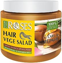Parfumuri și produse cosmetice Mască cu ulei de trandafir și argan pentru păr epuizat - Nature of Agiva Roses Care & Repair Hair Mask