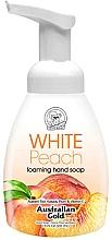 "Parfumuri și produse cosmetice Мыло-пенка для рук ""Белый персик"" - Australian Gold Foaming Hand Soap White Peach"