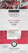 Masca regenerantă de față - Freeman Beauty Infusion Revitalizing Peel-Off Mask Pomegranate + Peptides (miniatură) — Imagine N1