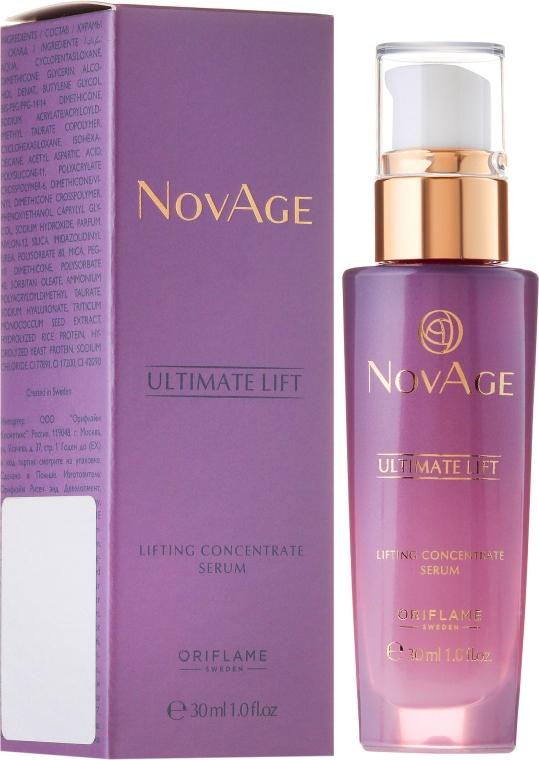Ser-lifting pentru față și gât - Oriflame NovAge Ultimate Lift Lifting Concentrate Serum — Imagine N1