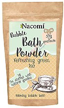"Parfumuri și produse cosmetice Pulbere pentru baie ""Ceai verde revigorant"" - Nacomi Bath Powder"