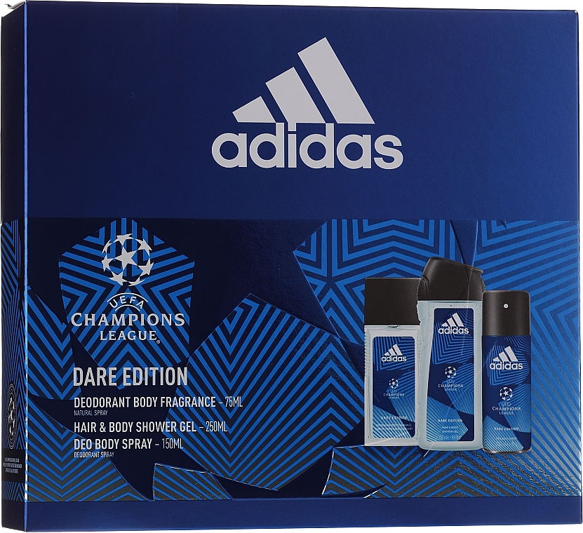 Adidas UEFA Dare Edition - Set (sh/gel/250ml + deo/75ml + deo/spray/150ml) — Imagine N1