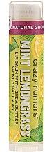 Parfumuri și produse cosmetice Balsam de buze - Crazy Rumors Peppermint Lemongrass Lip Balm