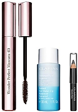 Parfumuri și produse cosmetice Clarins (mascara/8ml + makeup/remover/30ml + eye/pencil/0.39g) - Set
