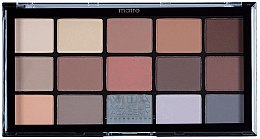 Parfumuri și produse cosmetice Paleta fard de ochi - MUA Pro 15 Shade Eyeshadow Palette Matte