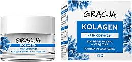 Parfumuri și produse cosmetice Cremă nutritivă antirid cu colagen marin - Gracja Sea Collagen And Elastin Anti-Wrinkle Day/Night Cream
