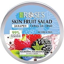 """Parfumuri și produse cosmetice Scrub pentru față și corp """"Fructe de pădure și piper negru"""" - Nature of Agiva Roses Body Fruit Salad Nourishing Sugar Scrub"""