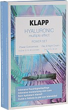 Parfumuri și produse cosmetice Set - Klapp Hyaluronic Multiple Effect Power Set (f/conc/3x2ml + f/cr/3ml)