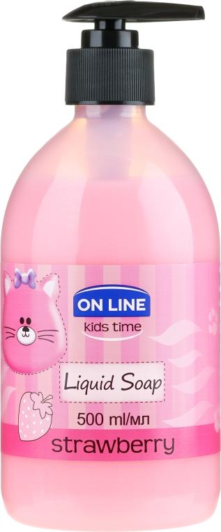 "Жидкое мыло ""Клубника"" - On Line Kids Time Liquid Soap Strawberry"