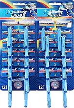 Parfumuri și produse cosmetice Set Aparat de ras de unică folosință, 48 buc - Gillette Blue II Plus