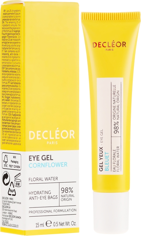 Cremă-gel hidratant pentru zona ochilor - Decleor Hydra Floral Everfresh Hydrating Wide-Open Eye Gel — Imagine N1