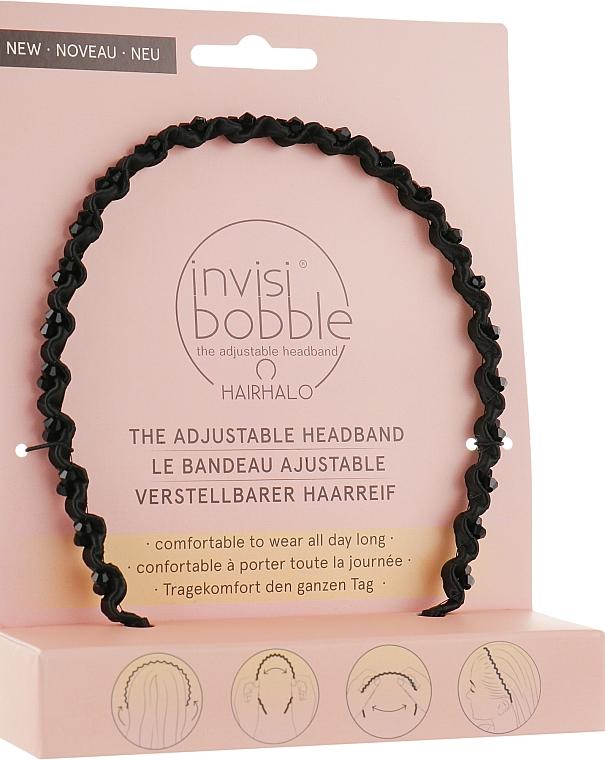 Bandă de păr - Invisibobble Hairhalo True Dark Sparkle — Imagine N1