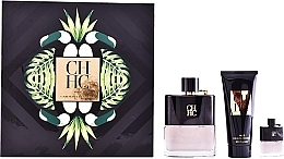 Parfumuri și produse cosmetice Carolina Herrera CH Men Prive - Set (edt/100ml + ash/balm/100ml + edt/mini/7ml)