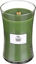 Parfumuri și produse cosmetice Lumânare parfumată în pahar - WoodWick Hourglass Candle Evergreen Conifere